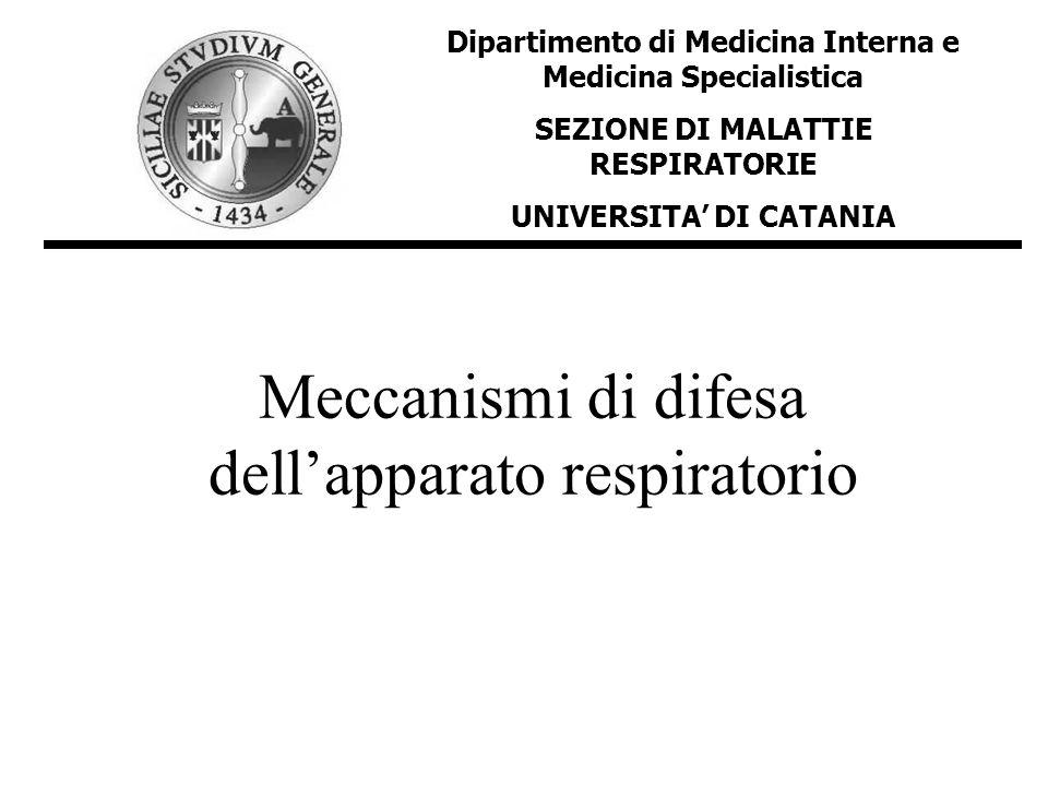 Meccanismi di difesa dell'apparato respiratorio