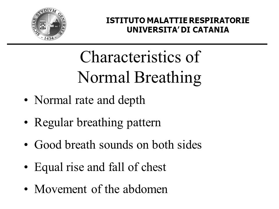Characteristics of Normal Breathing