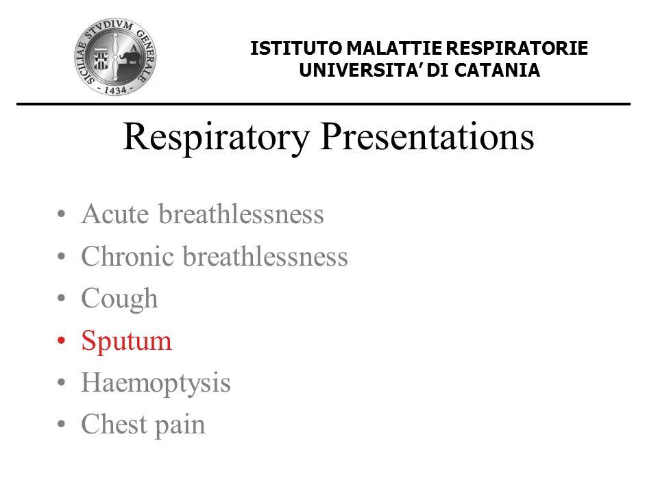 Respiratory Presentations