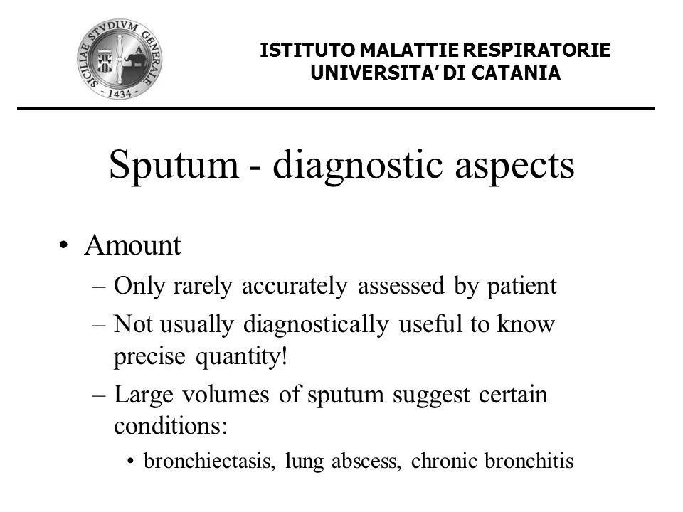 Sputum - diagnostic aspects