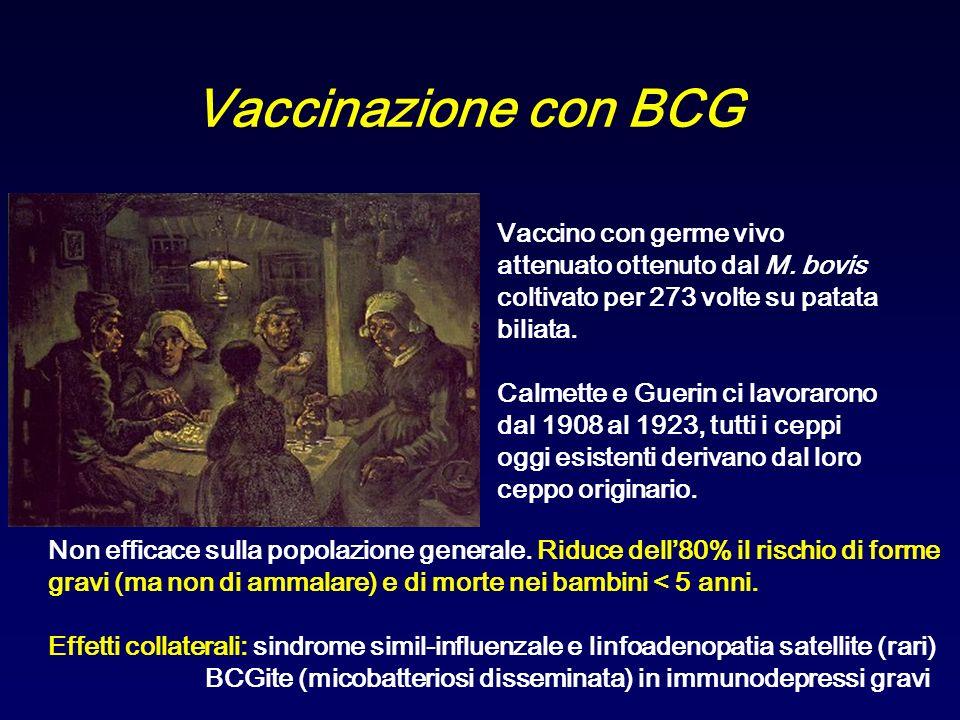 Vaccinazione con BCG Vaccino con germe vivo