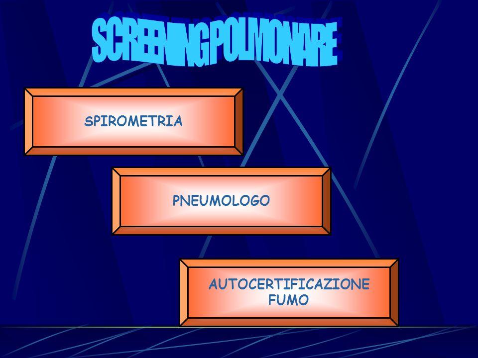 SCREENING POLMONARE SPIROMETRIA PNEUMOLOGO AUTOCERTIFICAZIONE FUMO