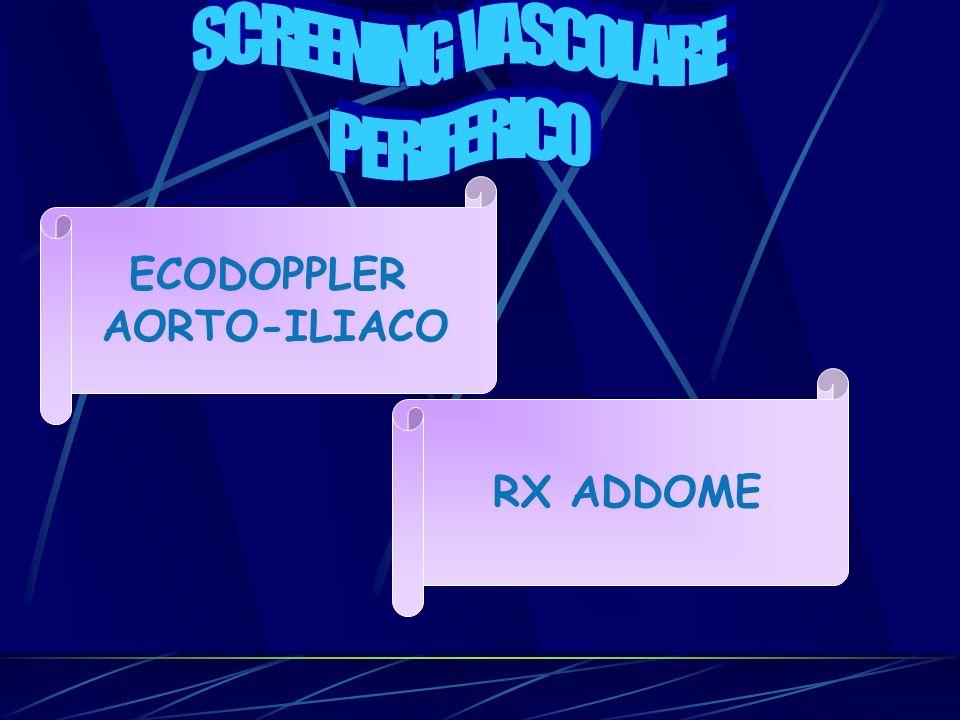 SCREENING VASCOLARE PERIFERICO ECODOPPLER AORTO-ILIACO RX ADDOME