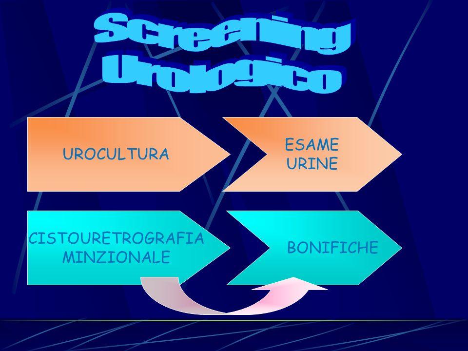 Screening Urologico ESAME UROCULTURA URINE CISTOURETROGRAFIA BONIFICHE
