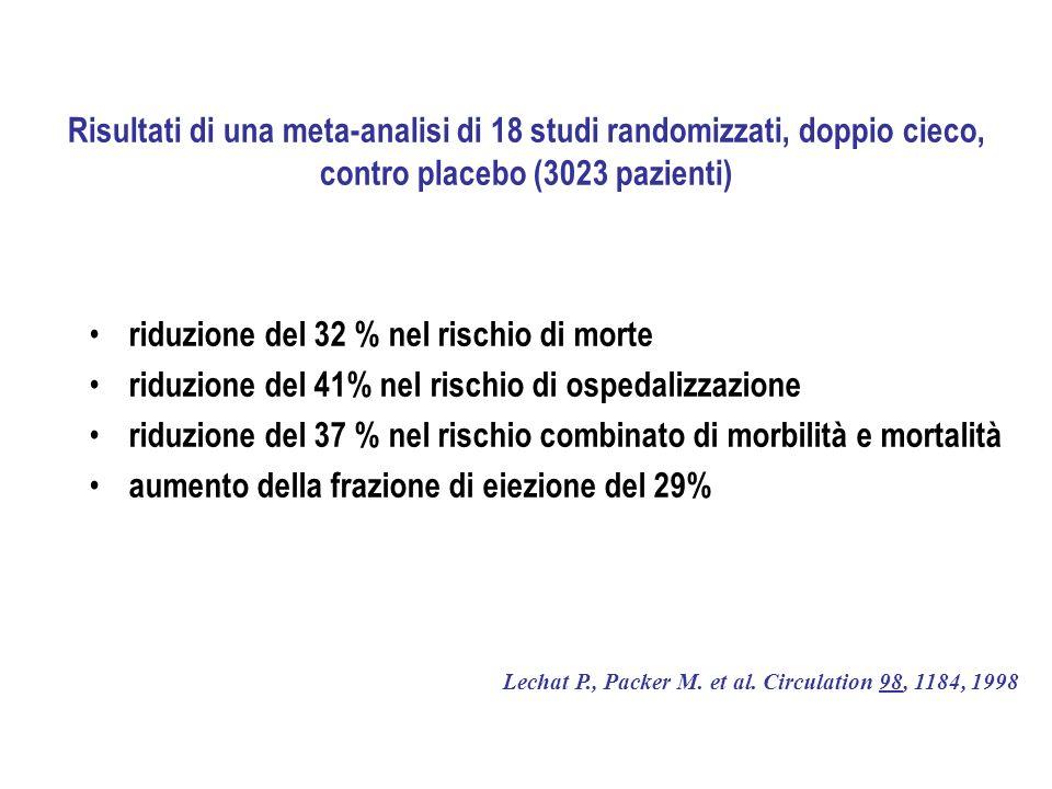 riduzione del 32 % nel rischio di morte