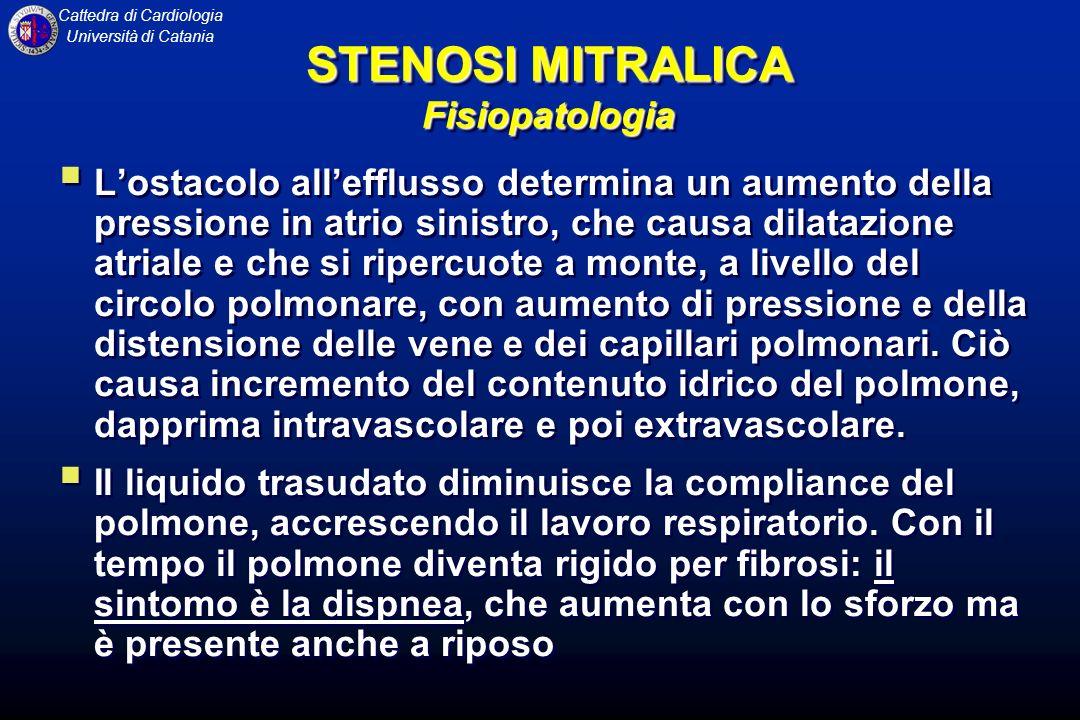STENOSI MITRALICA Fisiopatologia