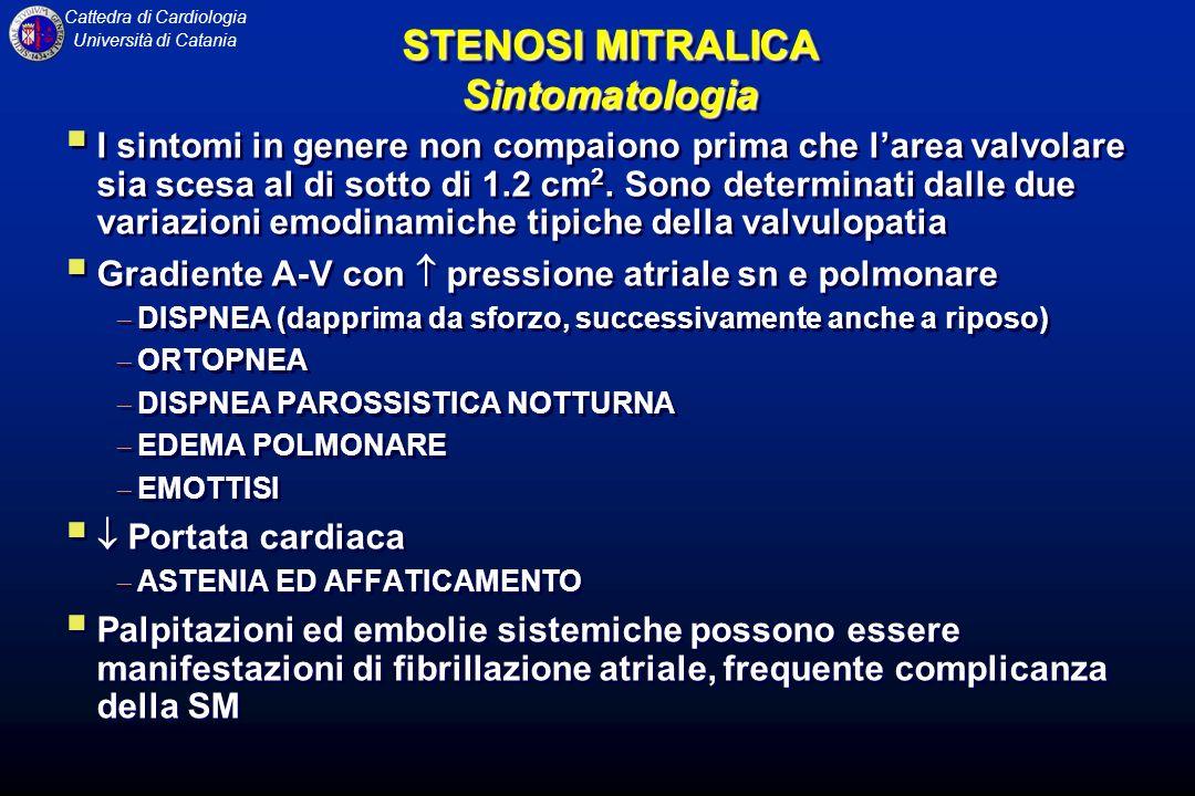 STENOSI MITRALICA Sintomatologia