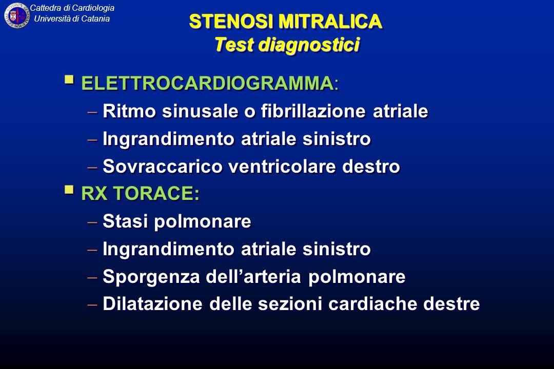 STENOSI MITRALICA Test diagnostici
