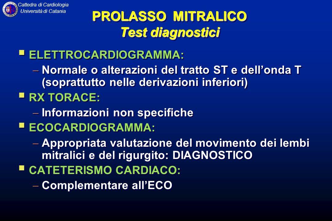PROLASSO MITRALICO Test diagnostici