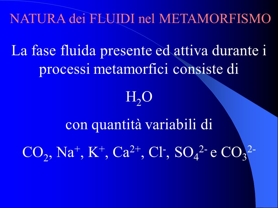 con quantità variabili di CO2, Na+, K+, Ca2+, Cl-, SO42- e CO32-