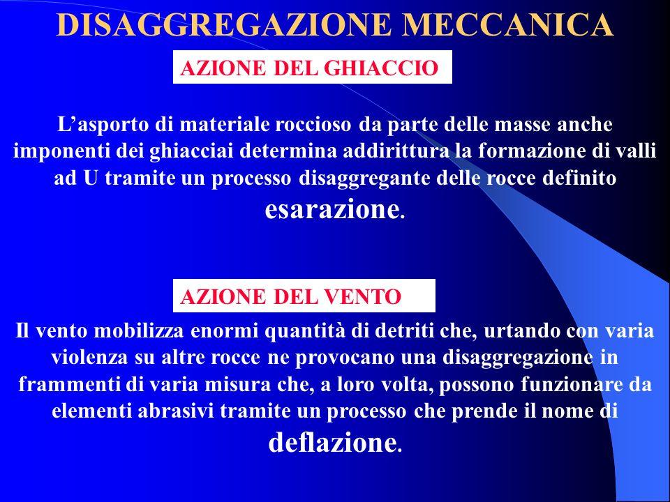 DISAGGREGAZIONE MECCANICA