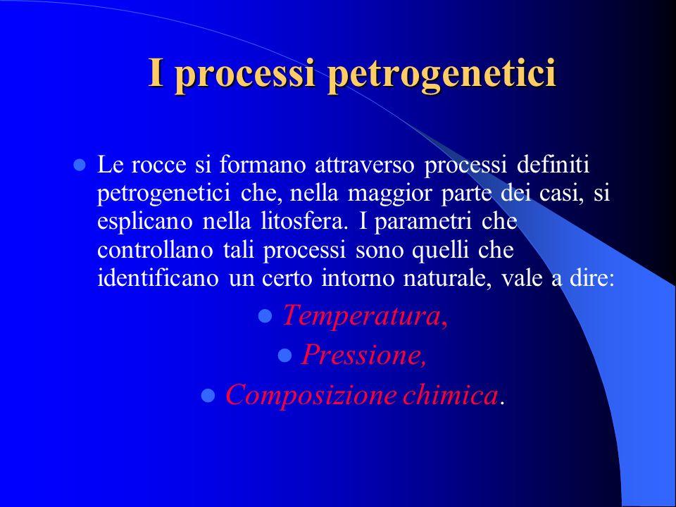I processi petrogenetici