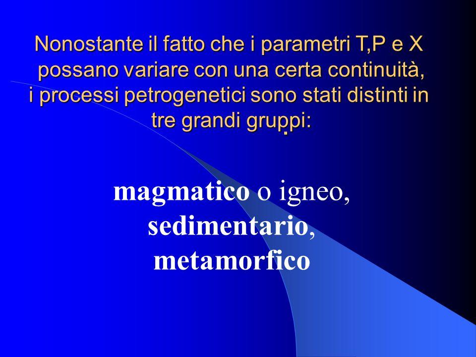 magmatico o igneo, sedimentario, metamorfico