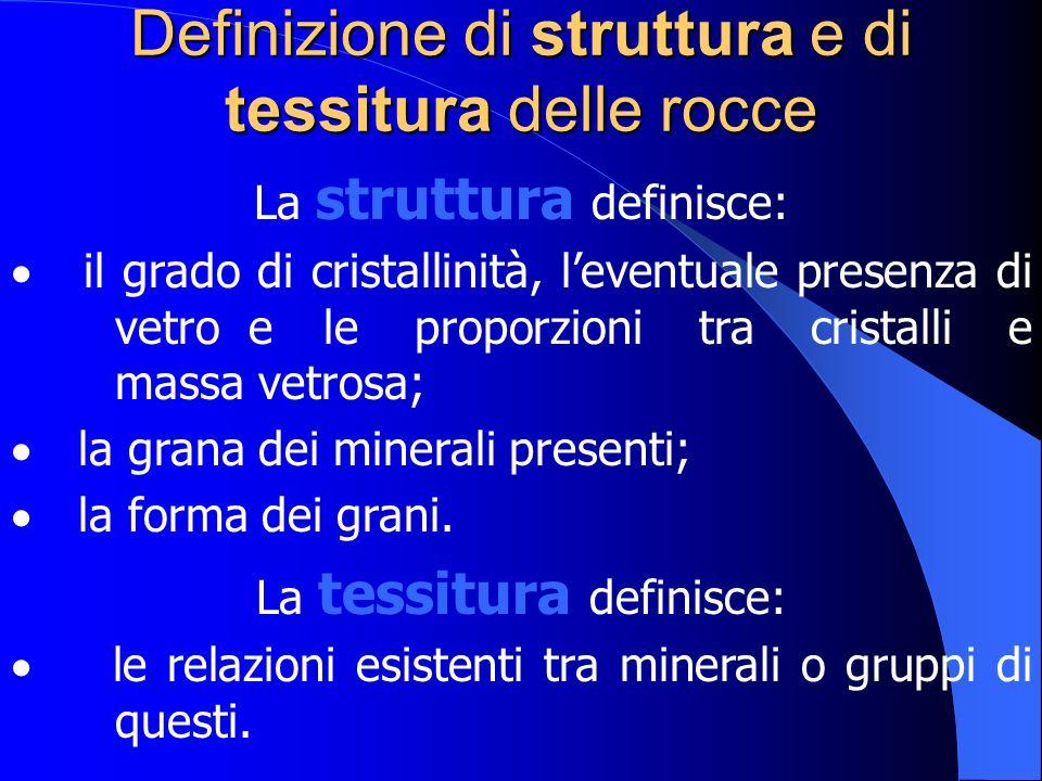 Definizione di struttura e di tessitura delle rocce
