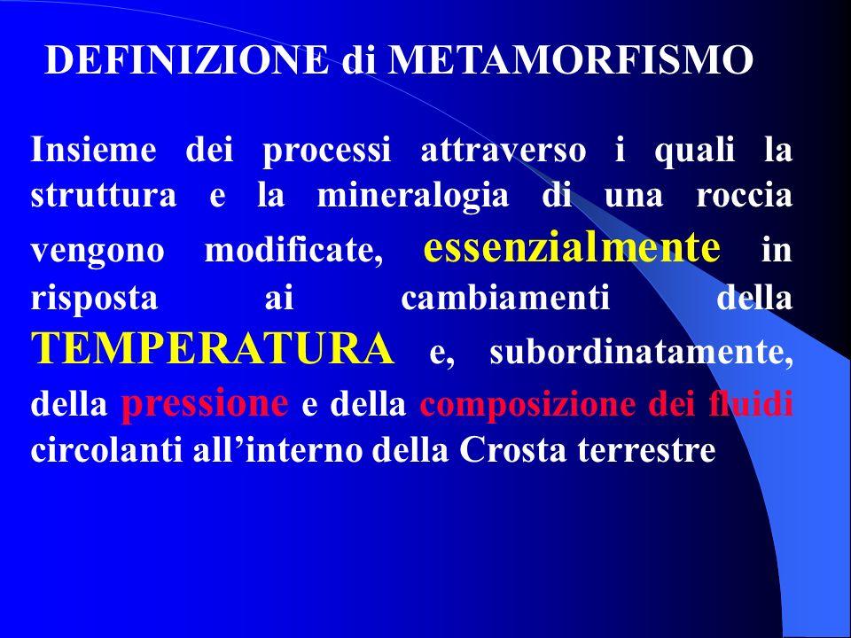 DEFINIZIONE di METAMORFISMO