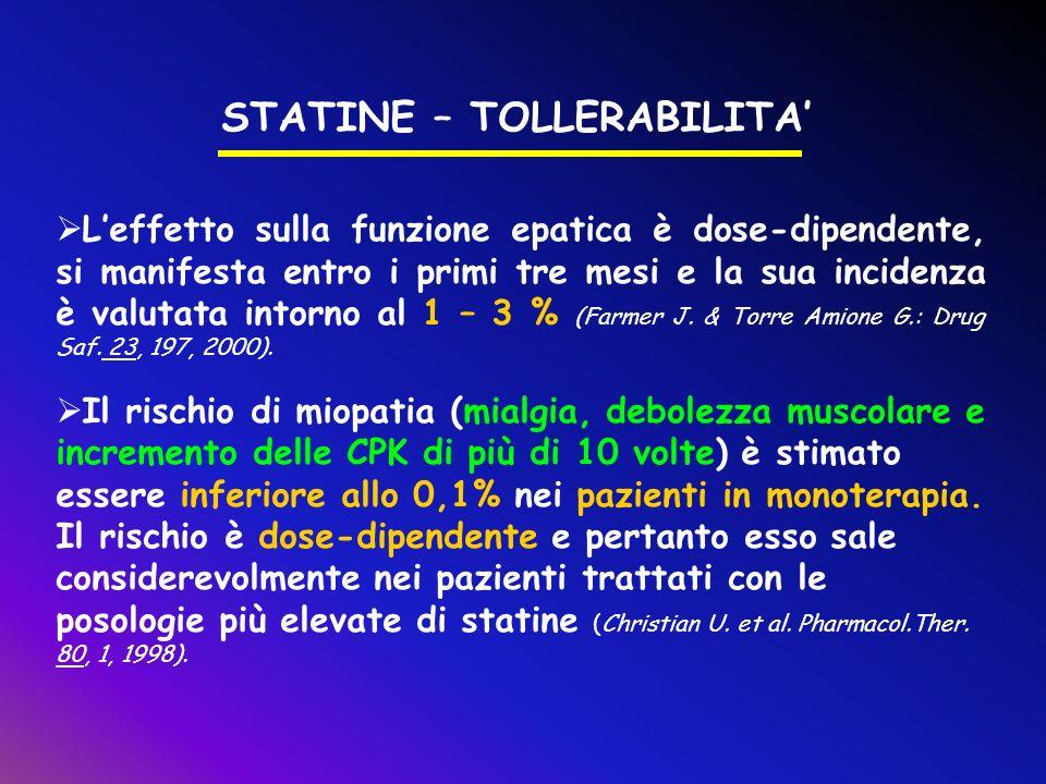 STATINE – TOLLERABILITA'