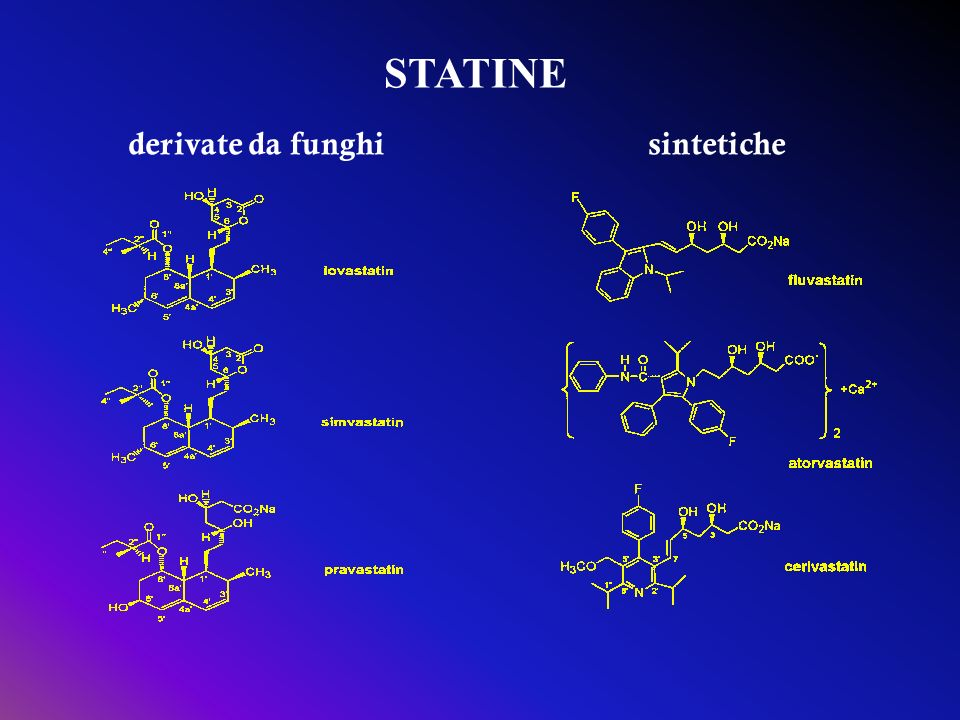 STATINE derivate da funghi sintetiche