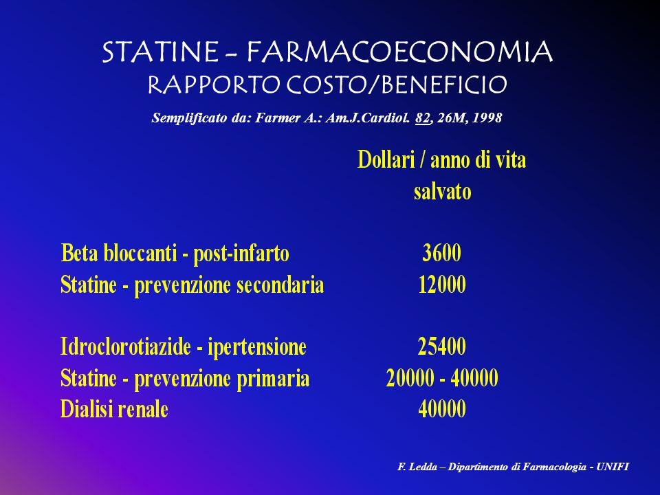 STATINE - FARMACOECONOMIA