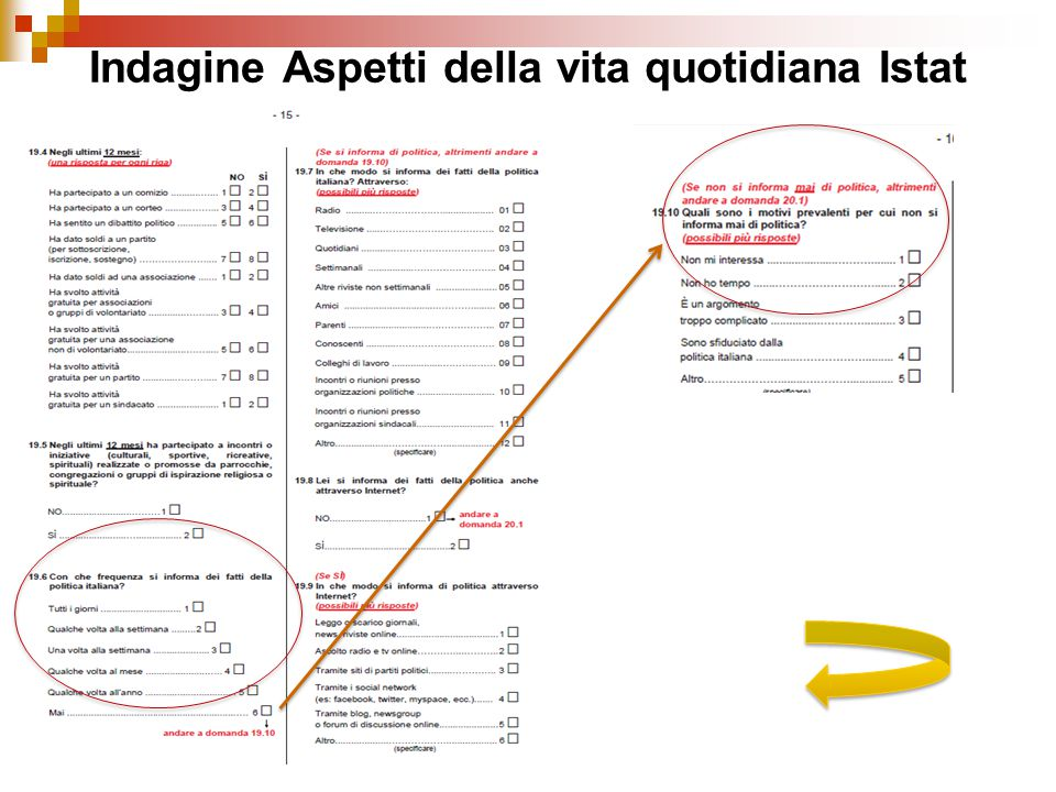 Indagine Aspetti della vita quotidiana Istat