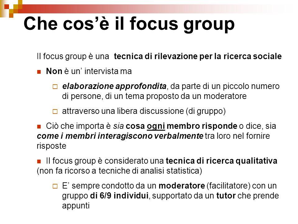 Che cos'è il focus group