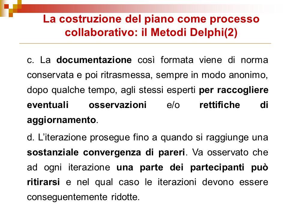 La costruzione del piano come processo collaborativo: il Metodi Delphi(2)