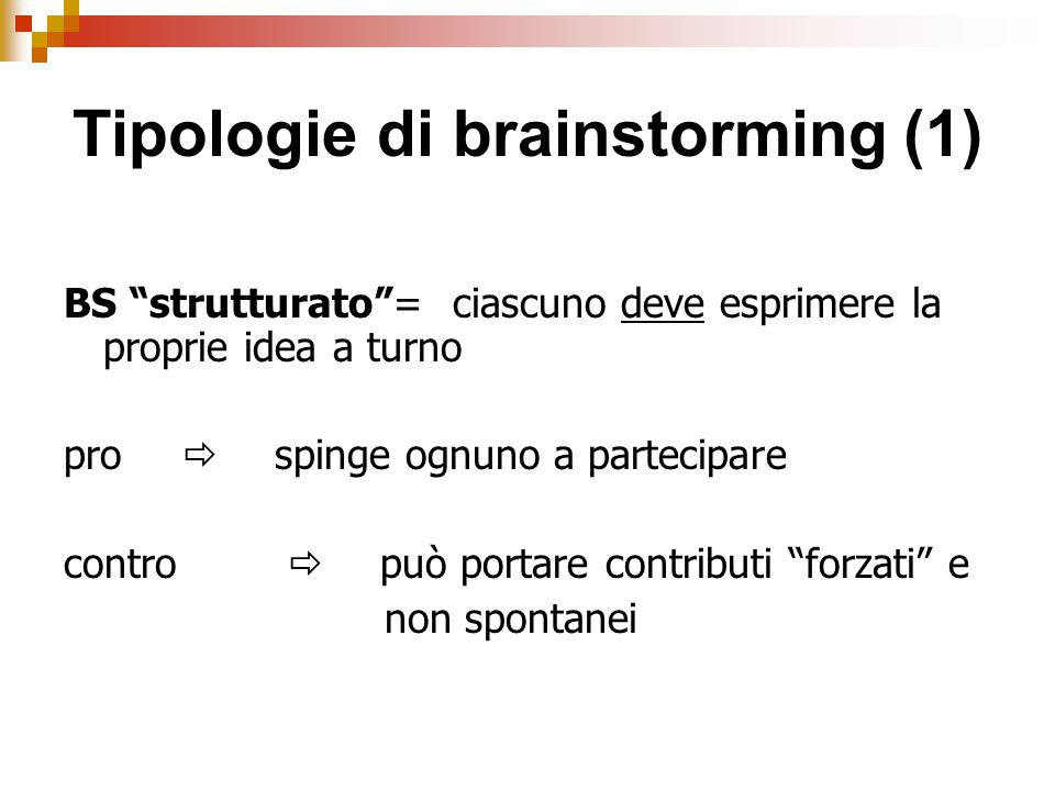 Tipologie di brainstorming (1)