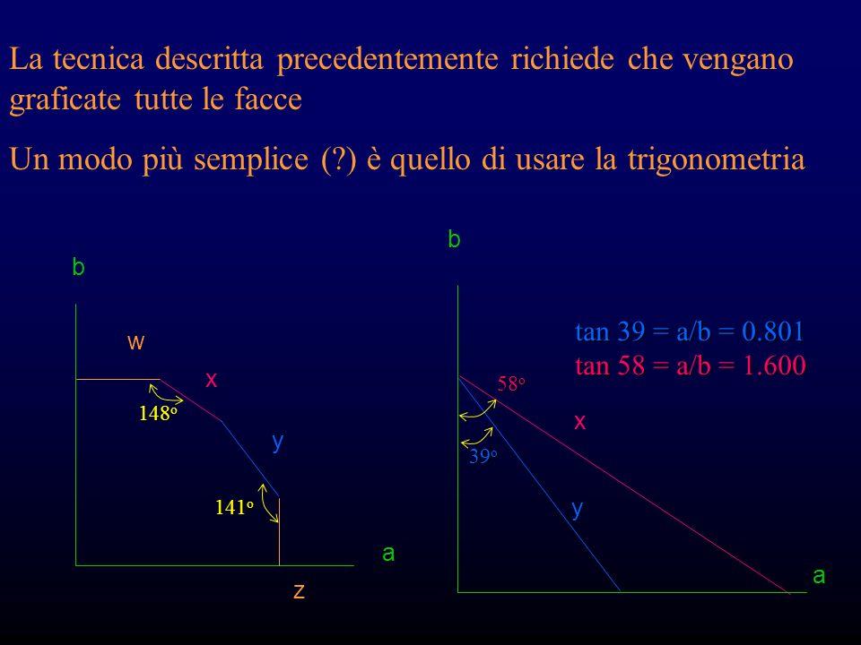 Un modo più semplice ( ) è quello di usare la trigonometria