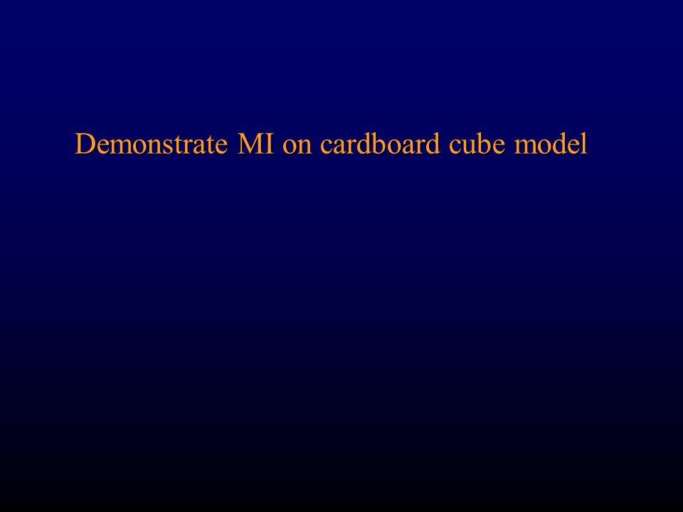Demonstrate MI on cardboard cube model