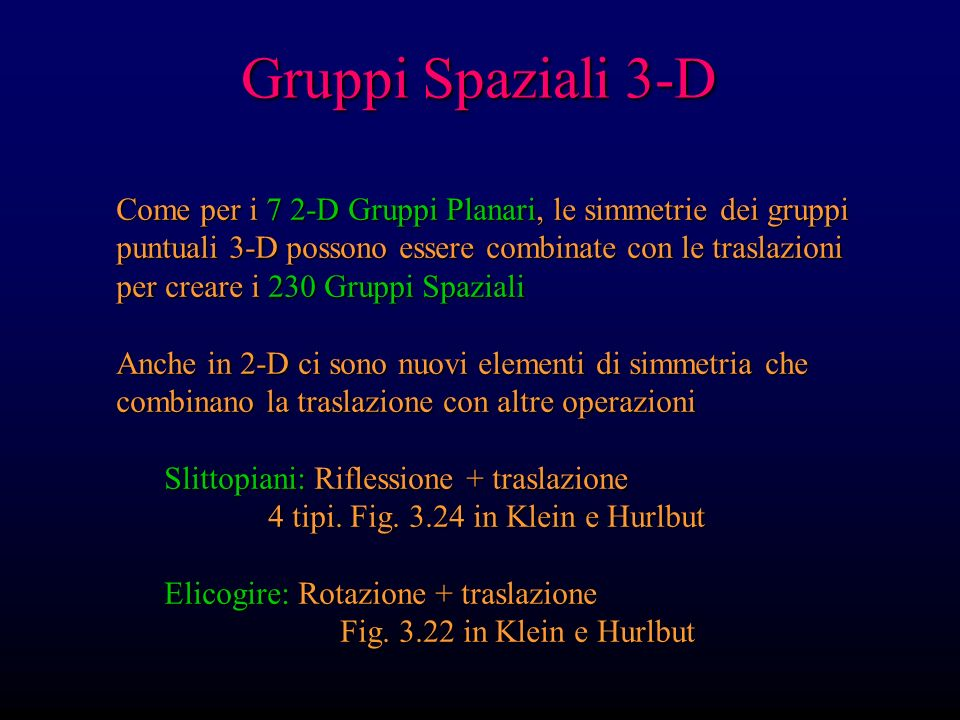 Gruppi Spaziali 3-D