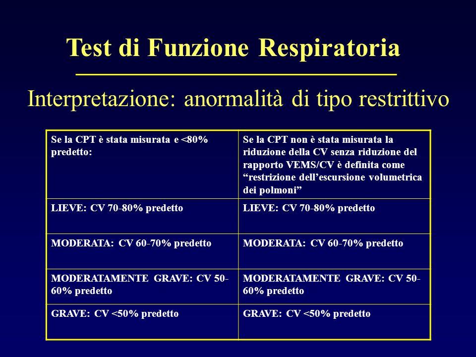 Test di Funzione Respiratoria