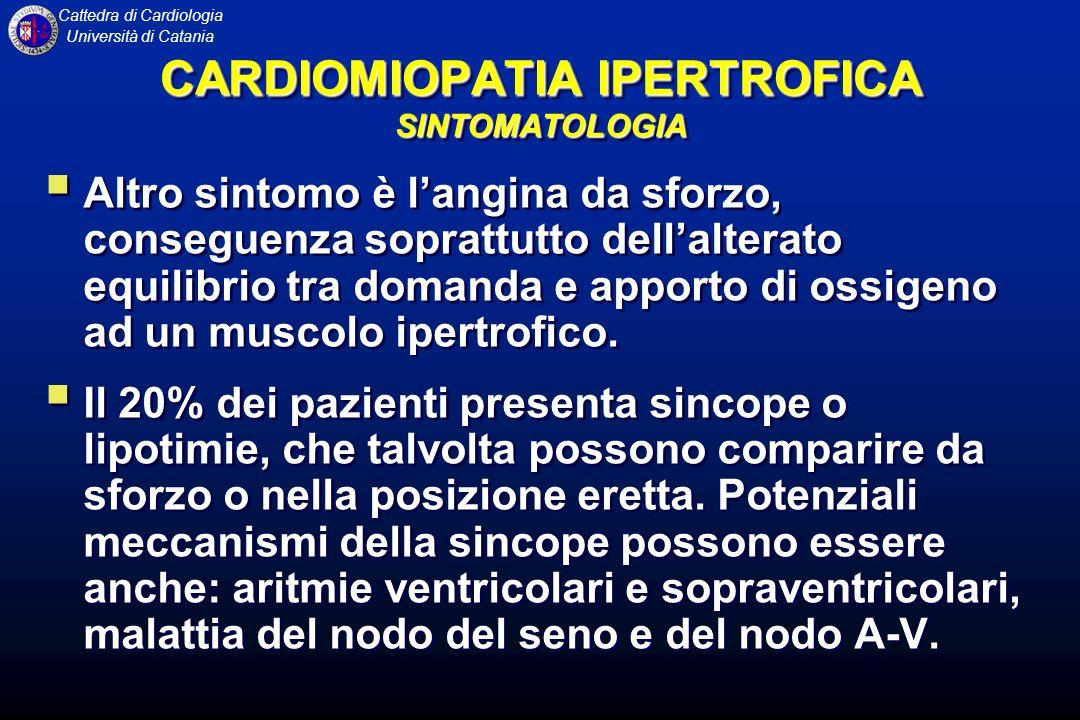 CARDIOMIOPATIA IPERTROFICA SINTOMATOLOGIA
