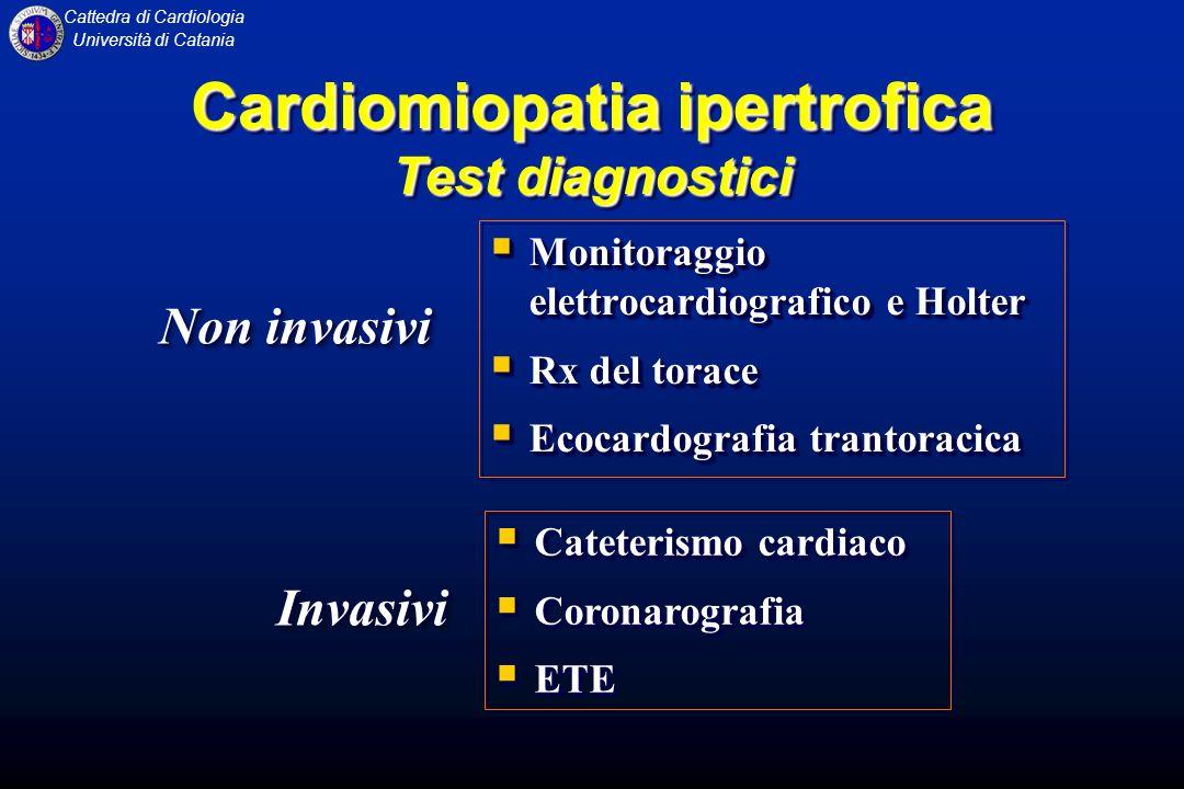 Cardiomiopatia ipertrofica Test diagnostici