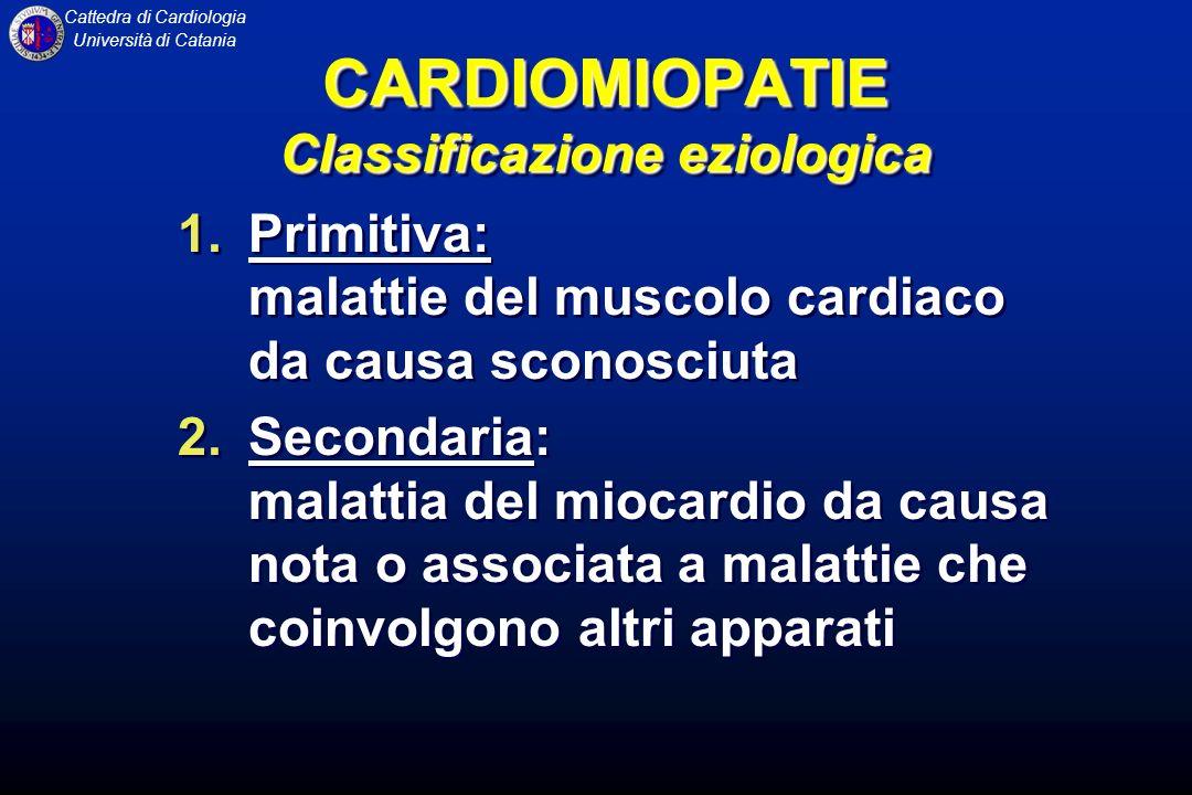 CARDIOMIOPATIE Classificazione eziologica