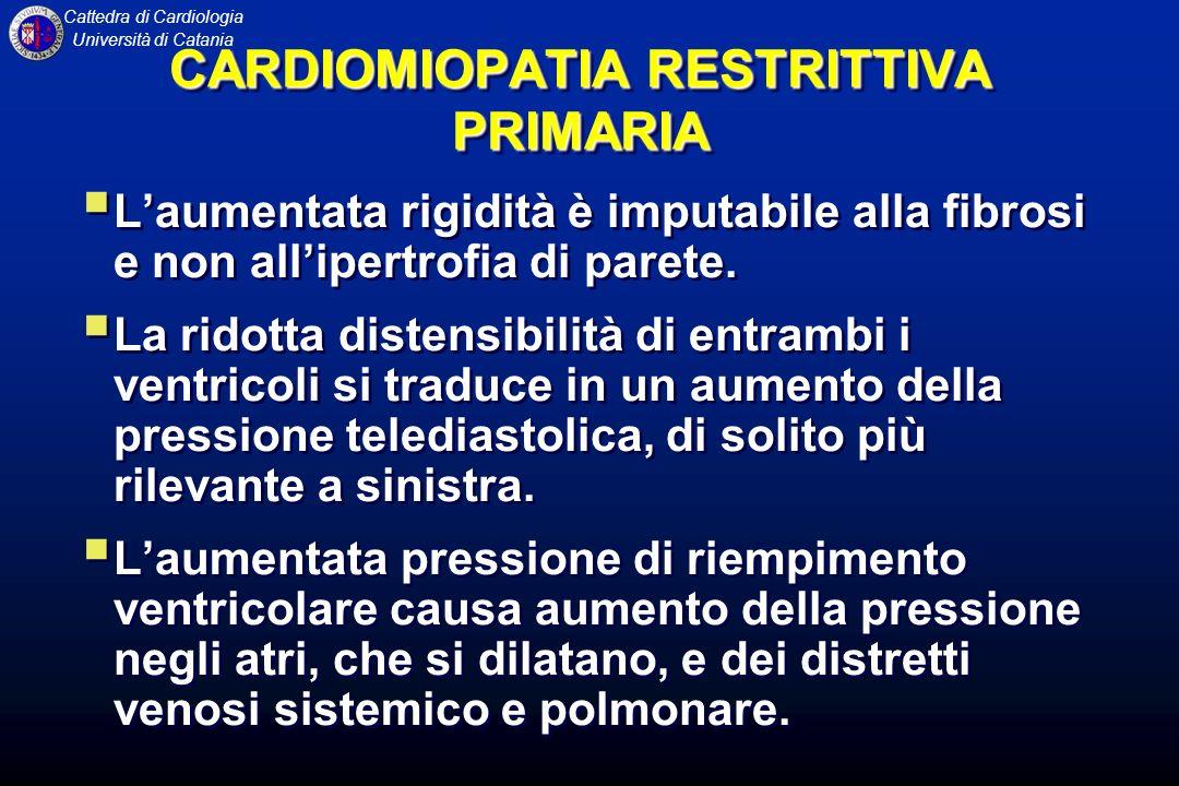 CARDIOMIOPATIA RESTRITTIVA PRIMARIA