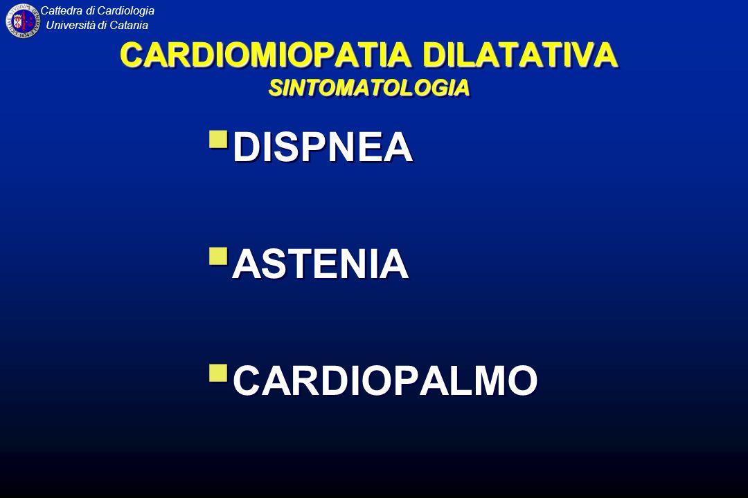 CARDIOMIOPATIA DILATATIVA SINTOMATOLOGIA