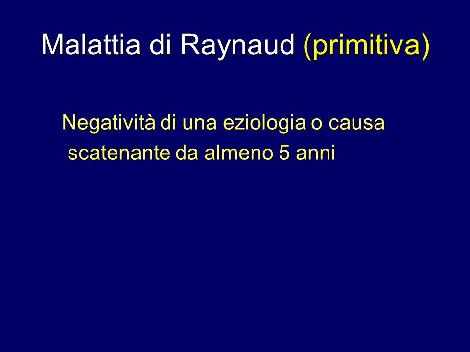 Malattia di Raynaud (primitiva)