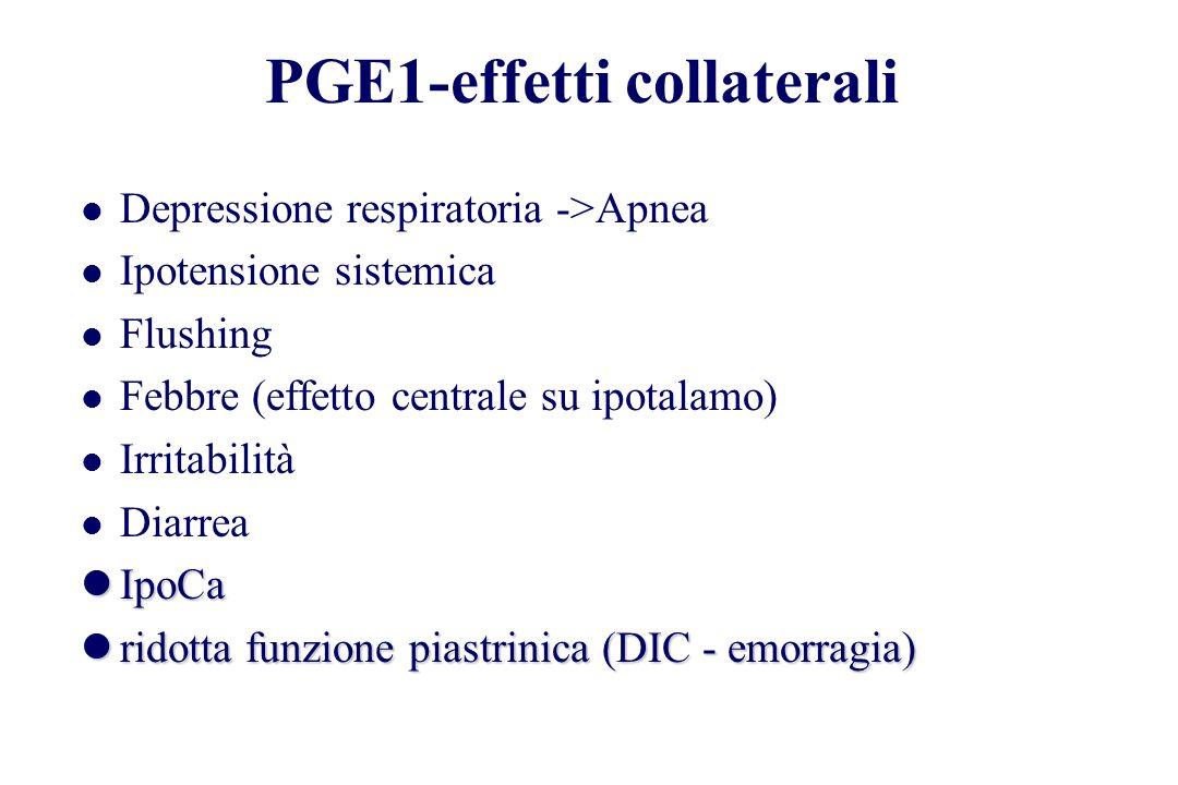 PGE1-effetti collaterali