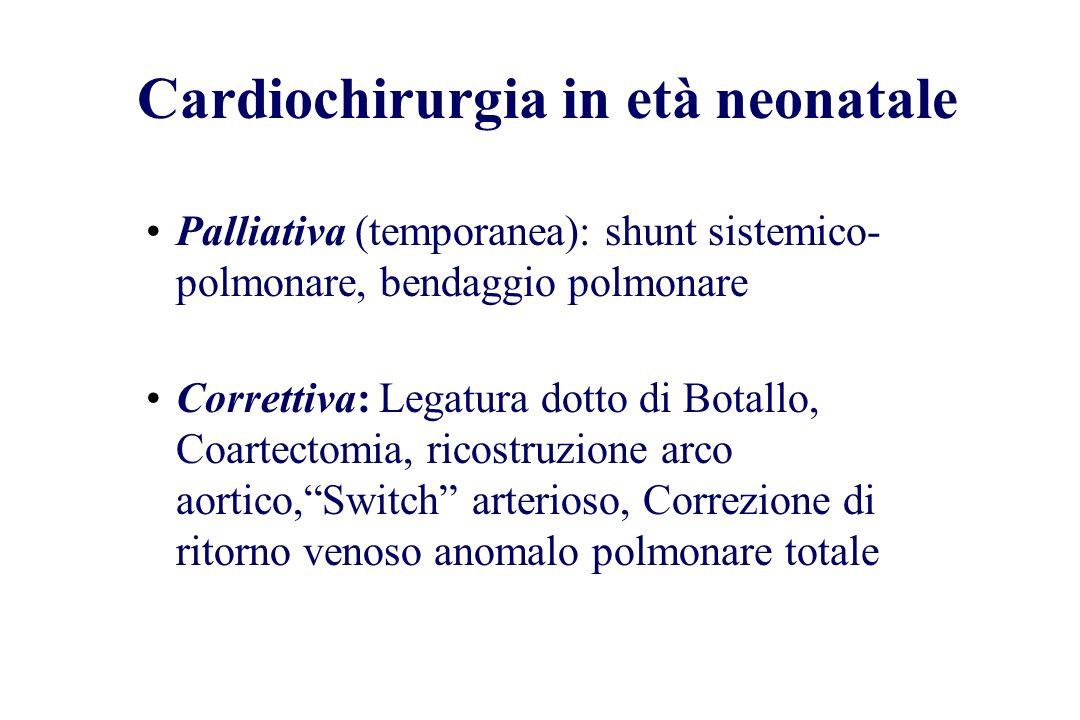 Cardiochirurgia in età neonatale