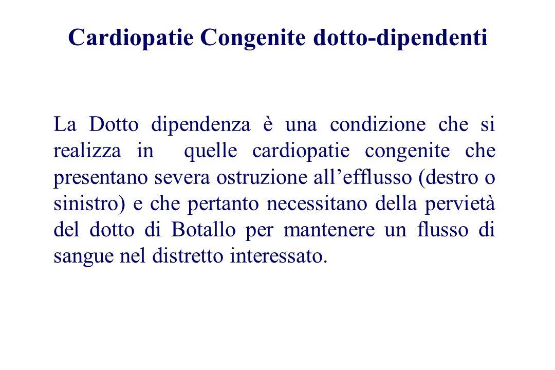 Cardiopatie Congenite dotto-dipendenti