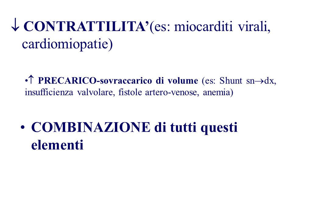  CONTRATTILITA'(es: miocarditi virali, cardiomiopatie)