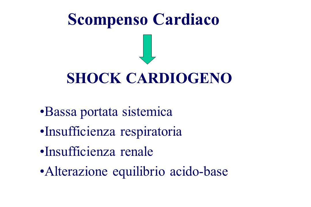 Scompenso Cardiaco SHOCK CARDIOGENO Bassa portata sistemica