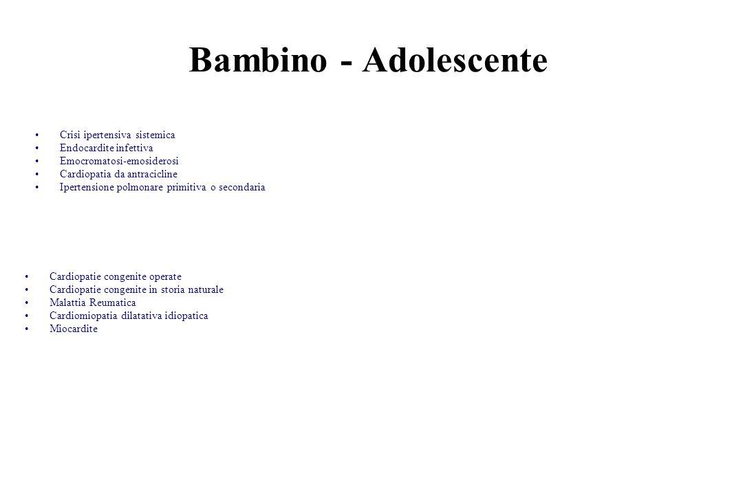 Bambino - Adolescente Crisi ipertensiva sistemica