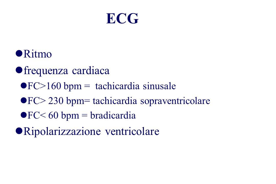 ECG Ritmo frequenza cardiaca Ripolarizzazione ventricolare