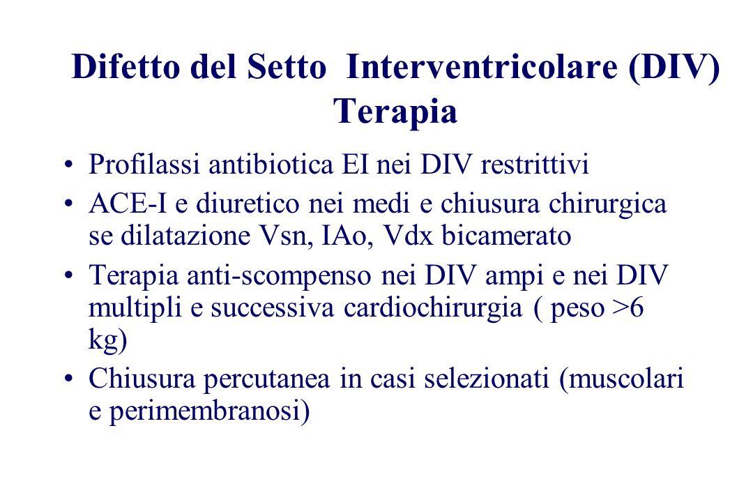 Difetto del Setto Interventricolare (DIV) Terapia