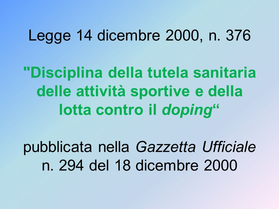 Legge 14 dicembre 2000, n.