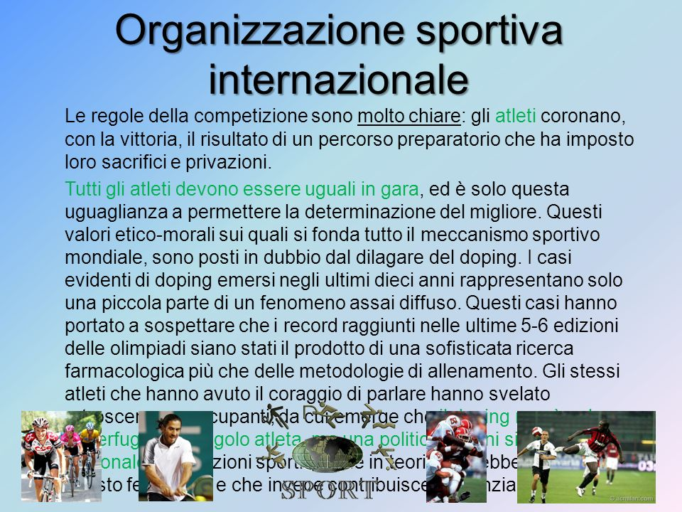 Organizzazione sportiva internazionale