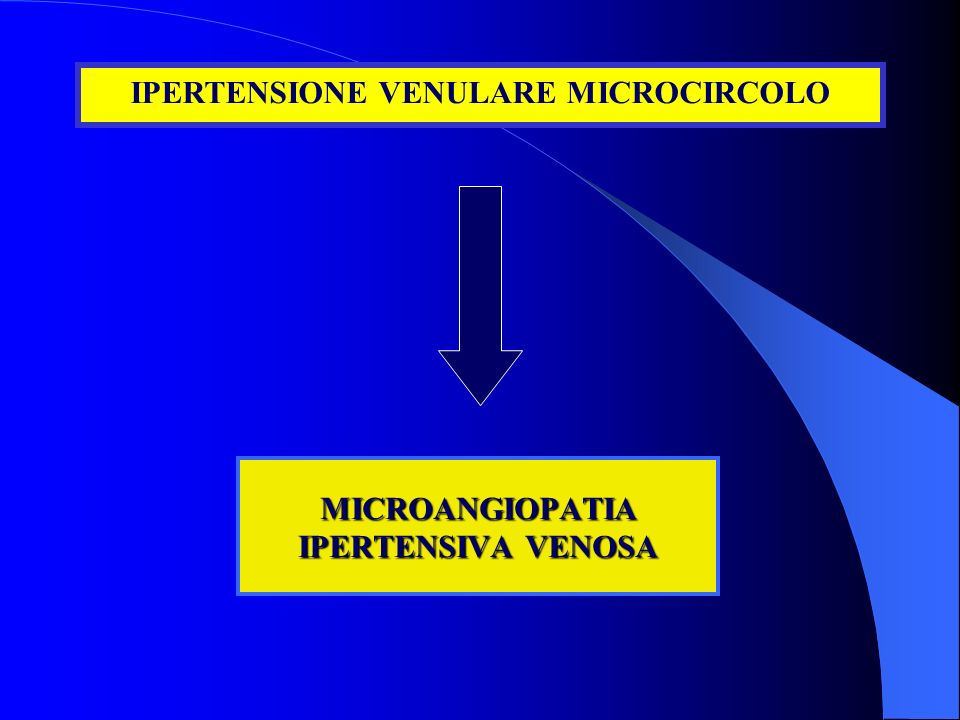 MICROANGIOPATIA IPERTENSIVA VENOSA