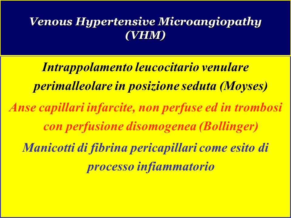 Venous Hypertensive Microangiopathy (VHM)