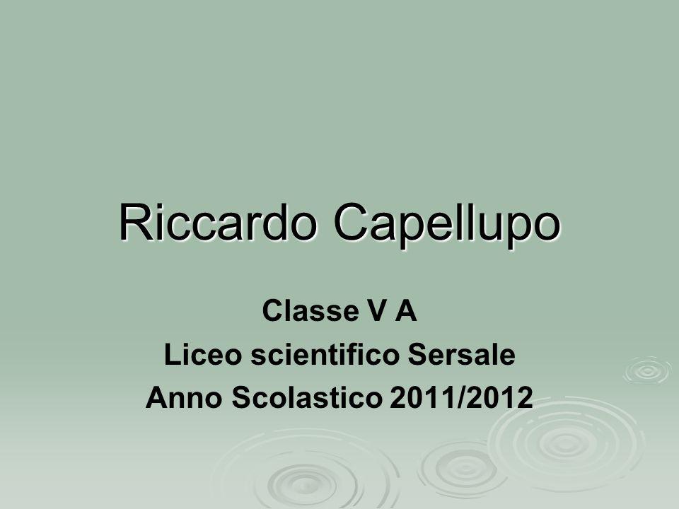 Classe V A Liceo scientifico Sersale Anno Scolastico 2011/2012