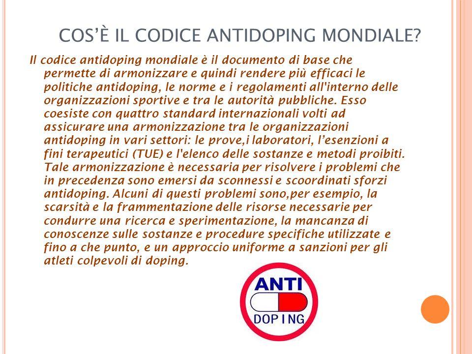 COS'È IL CODICE ANTIDOPING MONDIALE